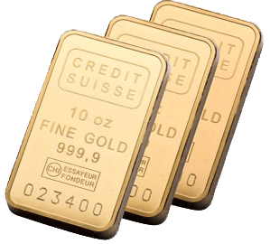 10 oz Credit Suisse Gold Bullion Bar