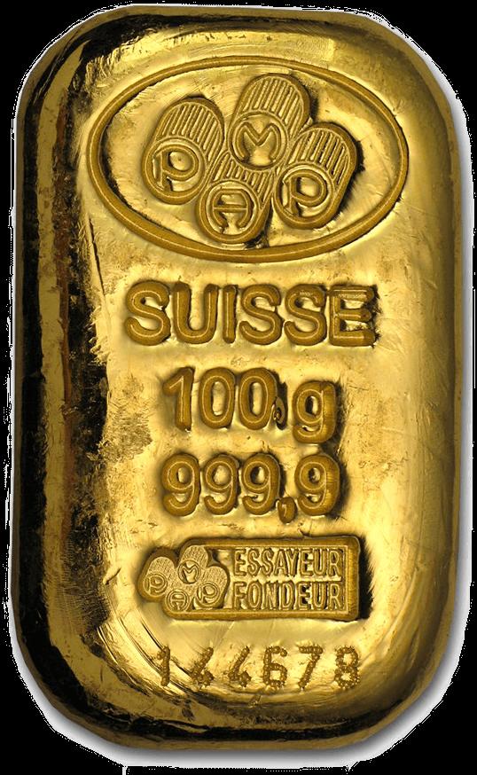 precious metals silver gold 100 gram bar
