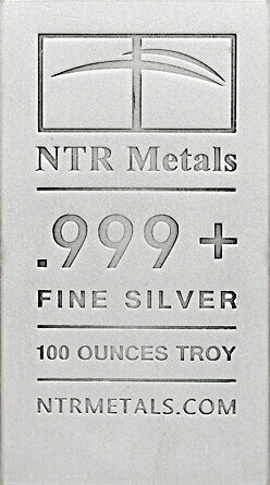 100 Troy Ounce Silver Bar