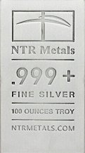 Buy Silver Bars - 100 ounce cast