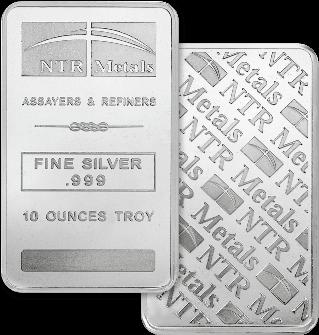 10oz Silver Bar Minted