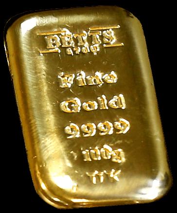 Buy Gold Online Betts 100 gram gold cast bar