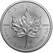 1oz Canadian Silver Maple Leaf Coin