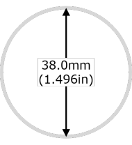Diameter of the 1 Ounce Canadian Maple Leaf Silver Coin