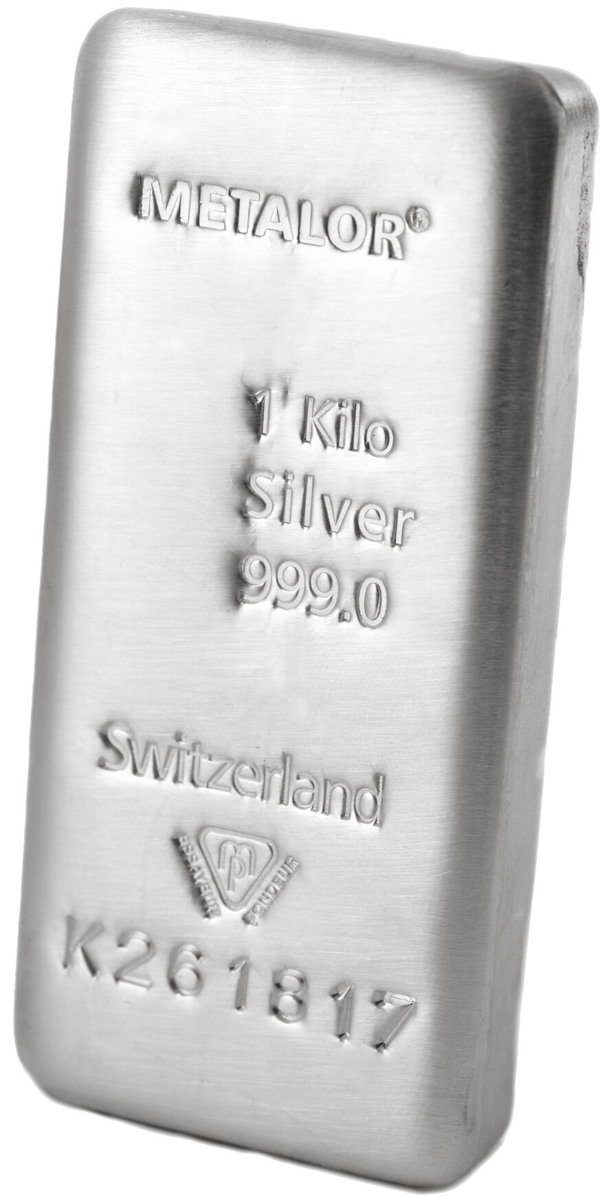 1 Kg Silver Bullion Cast 999 Bar