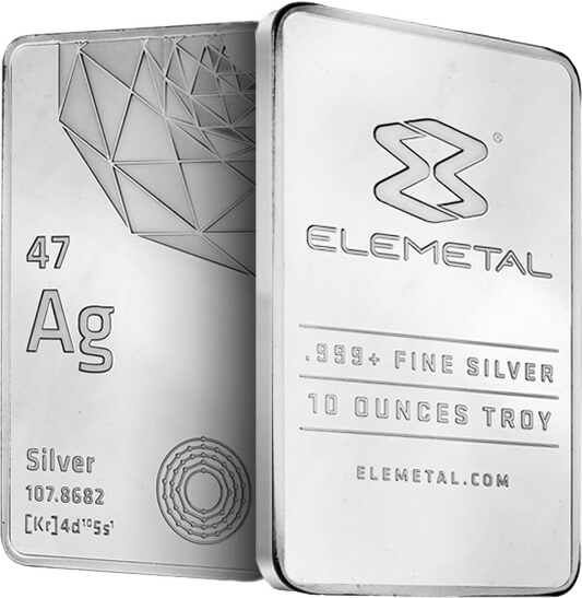 Elemetal Direct 10oz Silver Bar 2015