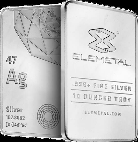 Elemetal Direct 10oz Silver Bar 2015
