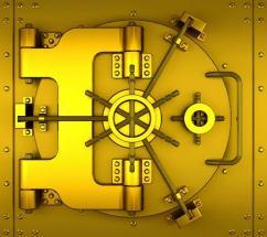 Golden vault door