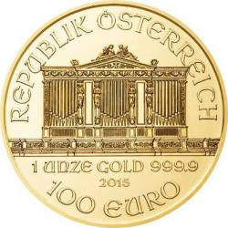 Reverse 1oz Vienna Philharmonic Gold Coins