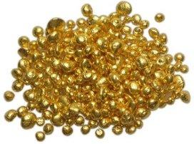 Pile of fine gold grains