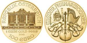 Buy Gold Bullion Coins - 1oz Austrian Vienna Philharmonic