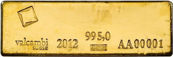 400 oz Gold Bar at 995 Fineness