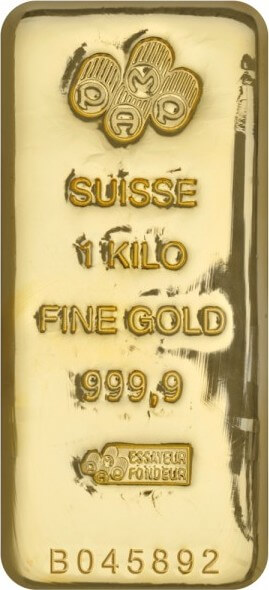 1 Kg Gold Bullion Bar 9999