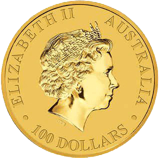 1oz Australian Kangaroo Gold Coin Obverse 2015