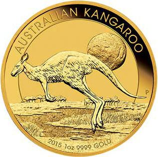 1oz Australian Kangaroo coin gold investment