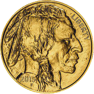 Obverse of 1oz American Buffalo Coin Gold