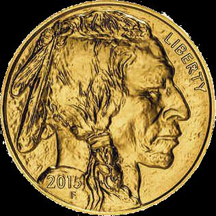 Obverse of 1oz American Buffalo Coin Gold