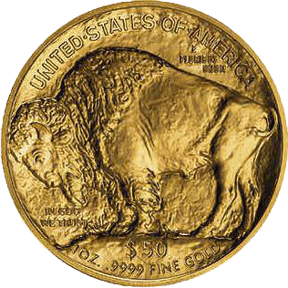 Reverse of 1oz American Buffalo Coin Gold