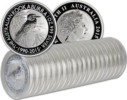 Wholesale Pack of 20 1oz Australian Kookaburra Silver Bullion Coins