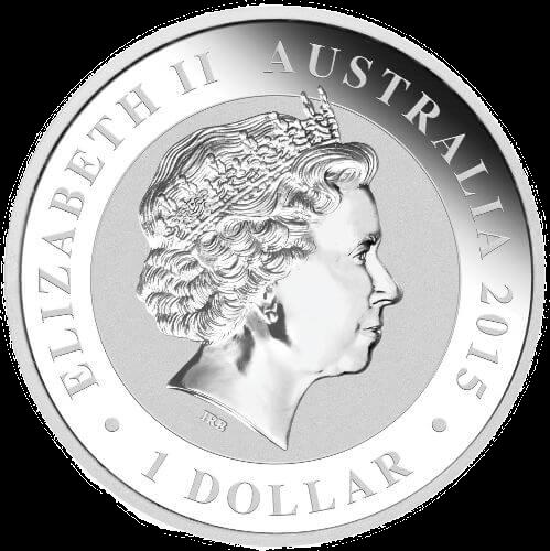 Obverse 1oz Australian Kookaburra Silver Bullion Coins