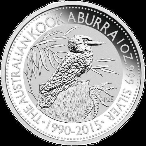 Reverse 1oz Australian Kookaburra Silver Bullion Coins
