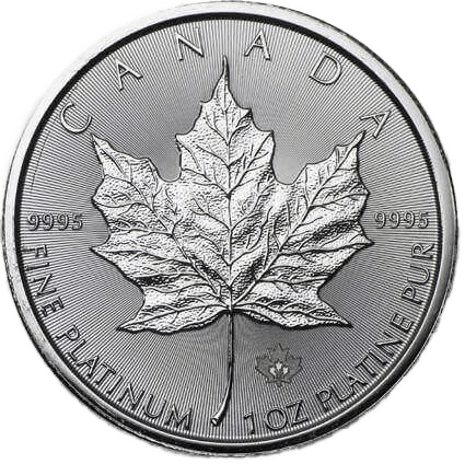 Buy Platinum Coins 1oz Canadian Maple Leaf Reverse