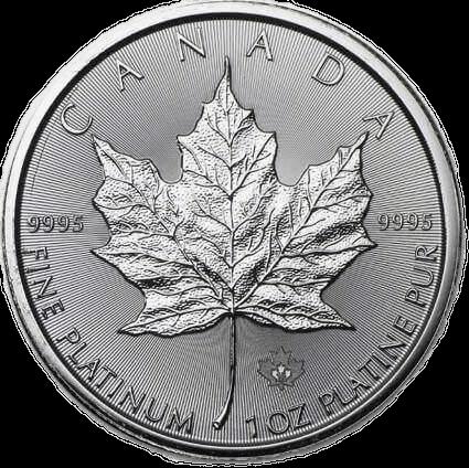 Buy Platinum Coins 1oz Canadian Maple Leaf Reverse