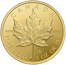1 ounce Canadian Maple Leaf Gold Coin Investment