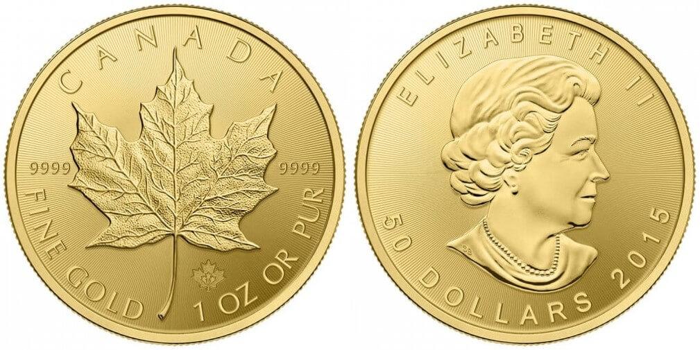 Buy Gold Bullion Coins - 1oz Canadian Maple Leaf