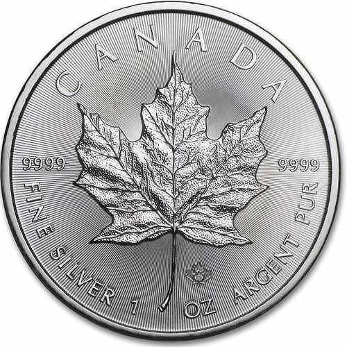 1oz Canadian Silver Maple Leaf Coin