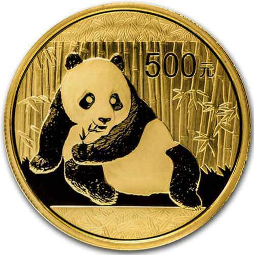 Reverse of the 1oz Chinese Gold Panda Coins