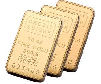10oz Credit Suisse Gold Bullion Bars