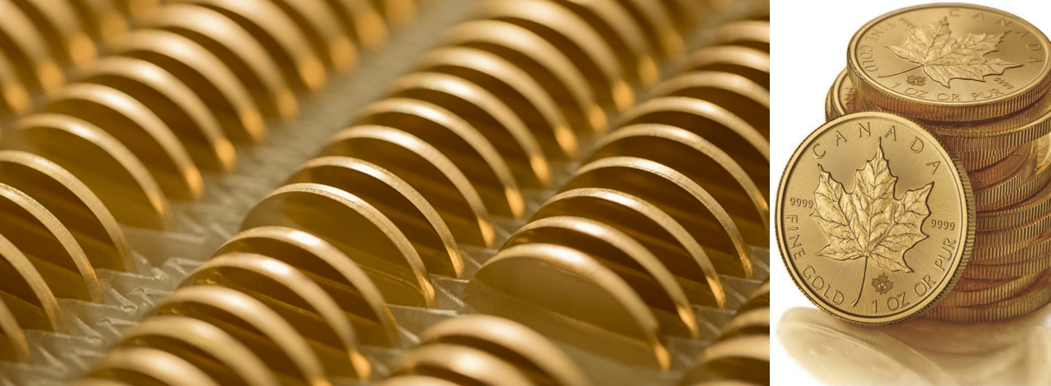 Gold Bullion Definition with Minted Coins