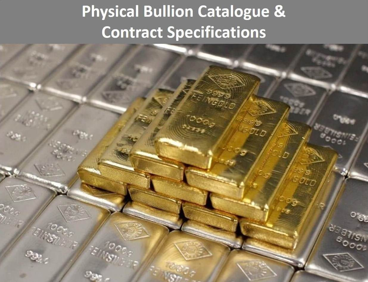 Precious Metals List for Silver, Platinum and Gold Bullion