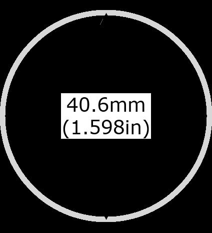 1oz Silver Eagle American Coin Diameter