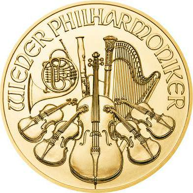 Obverse of the 1oz Vienna Philharmonic Gold Coins