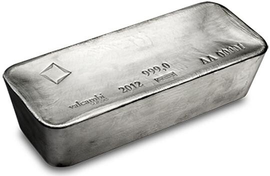 1000 oz silver bar Valcambi